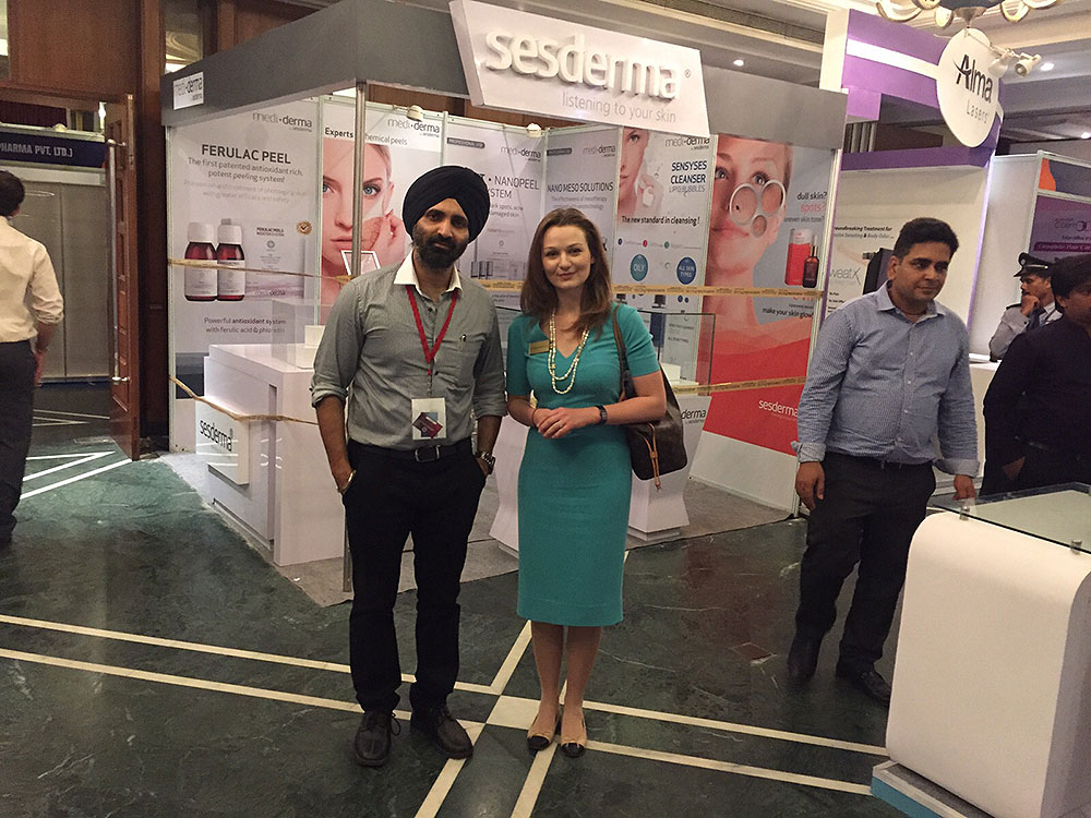 With Dr. Uliana Gout, Cosmetic Dermatologist at London Aesthetic Clinic at Aesthetics 2015, New Delh