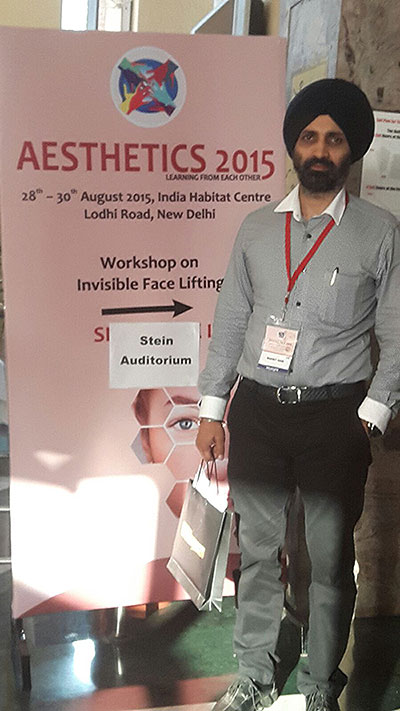 Attending the Aesthetics conference 2015 in New Delhi, at Indian Habitat Center, 28-30 Aug 2015